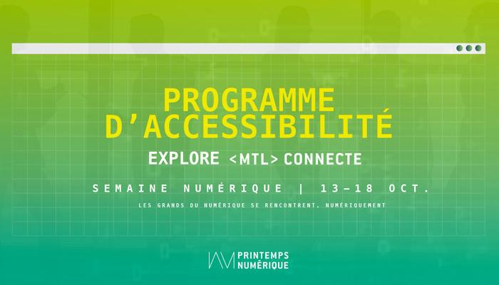 Programme d'accessibilité : Explore MTL connecte