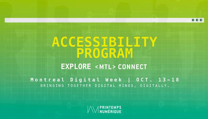 Accessibility program: Explore MTL connect